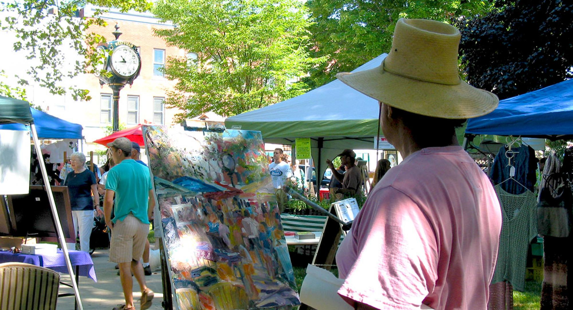 Produce, Art and Artist collide at the Westfield Farmers Market