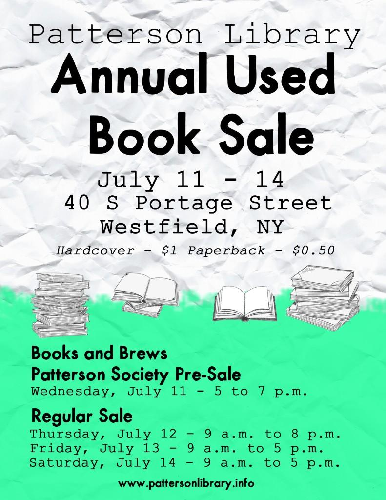 Patterson Library Annual Used Book Sale