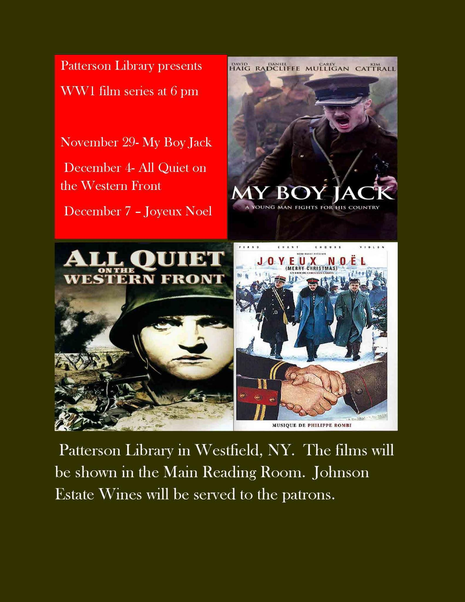 Patterson Library WWI Film Series