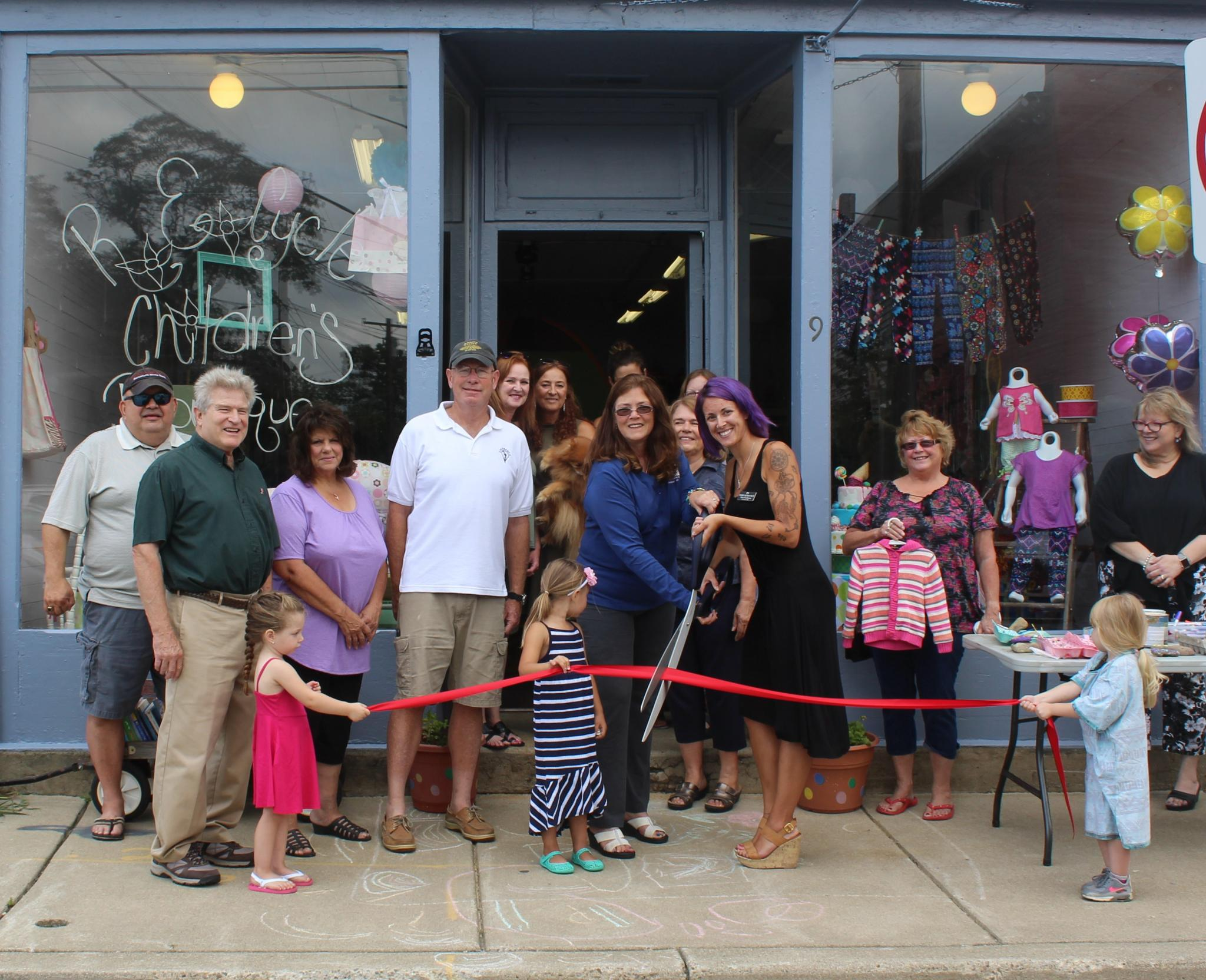 R.E. Cycle Children's Boutique Ribbon Cutting Ceremony