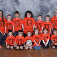 Pre-K/Kindergarten League Orange Team Coaches: Josh & Nicolle Tunison Sponsor: Seachrist Law Offices
