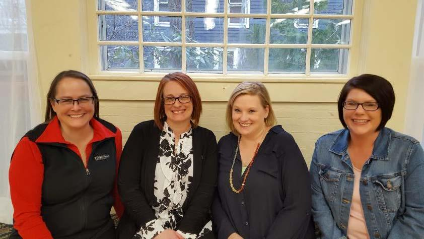 Renee Miller, Board President; Amy Pierce, Executive Director; Angela Fowler, Administrative Coordinator; Nicole Gollhardt, Director of School Age Child Care