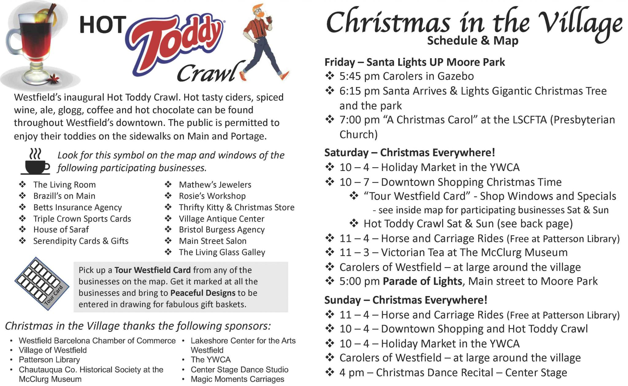 Christmas In the Village Schedule & Map page 1