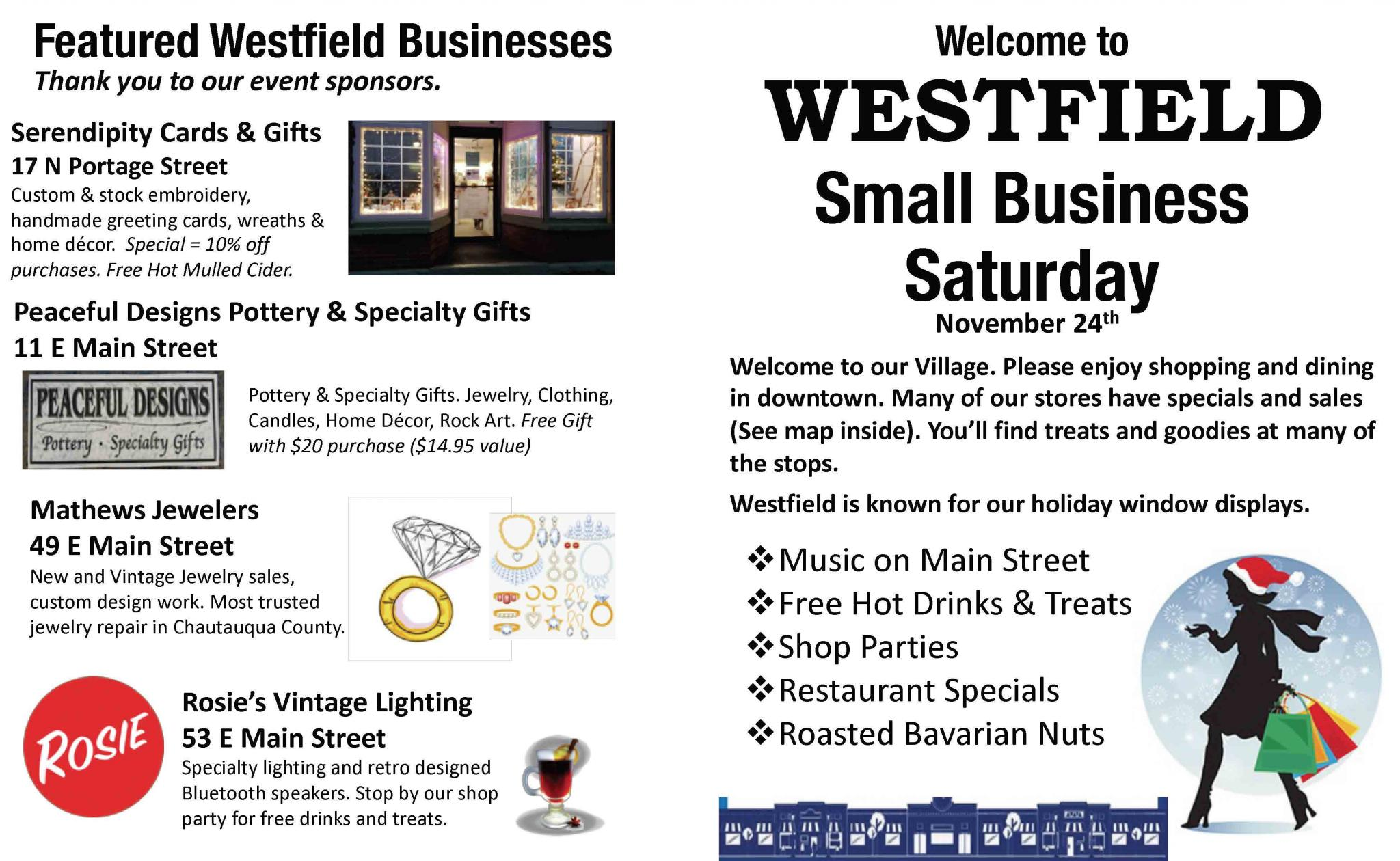 Small Business Saturday in the Village of Westfield