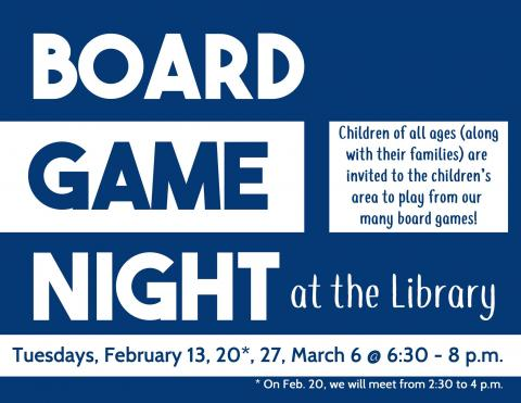 Board Game Night at the Library
