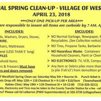 Village of Westfield 2018 Spring Clean-Up