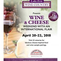 Wine & Cheese Weekend with an International Flair!