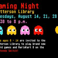 Gaming Night at Patterson Library