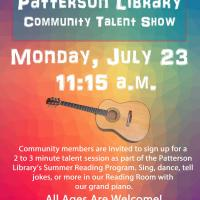Community Talent Show at Patterson Library