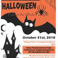 2018 Village of Westfield Trick or Treating