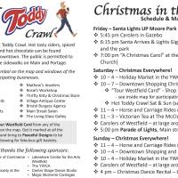 2018 Christmas In the Village Schedule & Map page 1