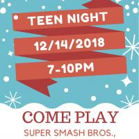 Patterson Library's Teen Night