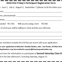 First Friday Registration Form