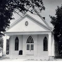 1940s photo of the church building
