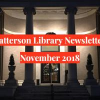 November 2018 Patterson Library Newsletter
