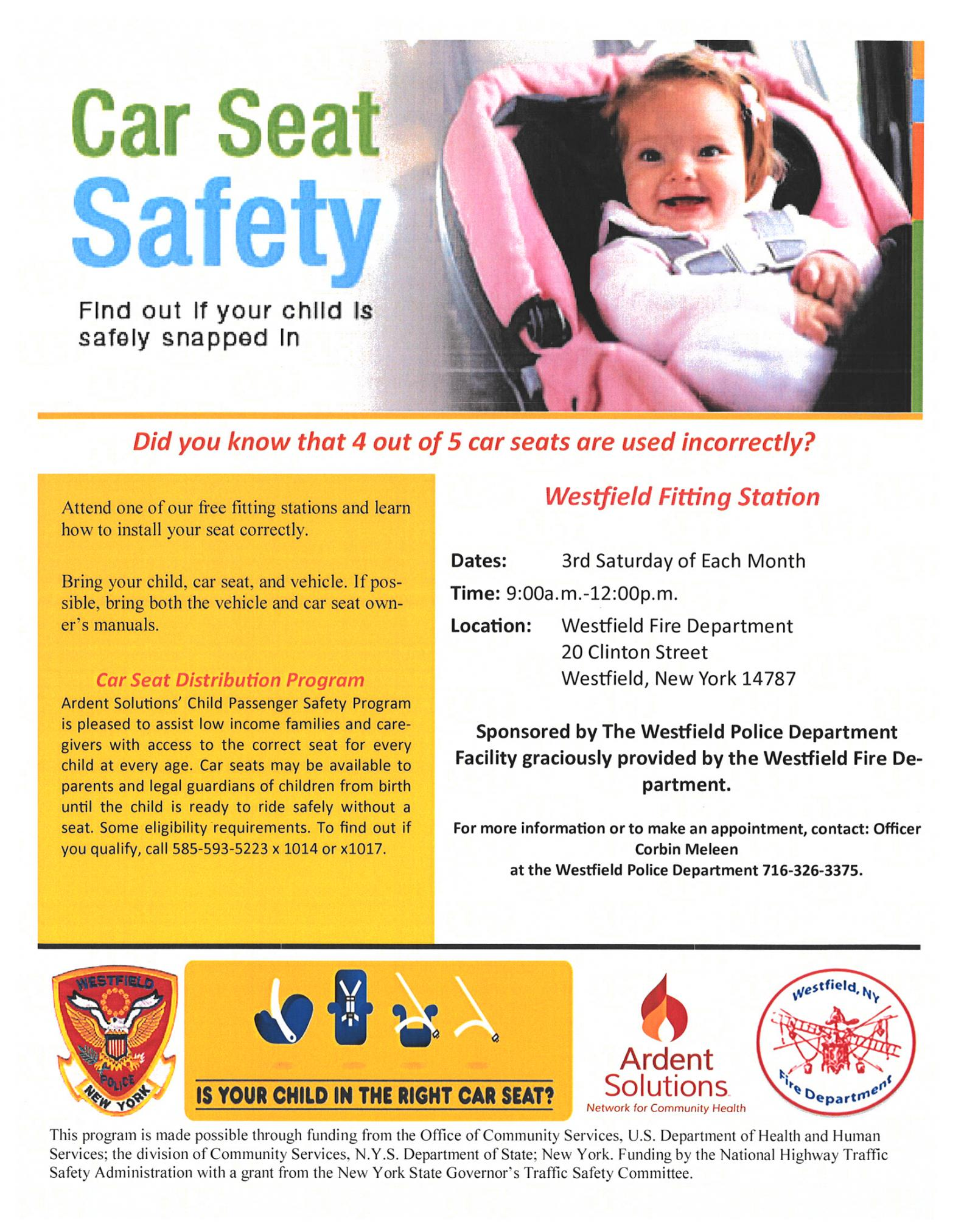 Car Seat Fitting Station Program Announced